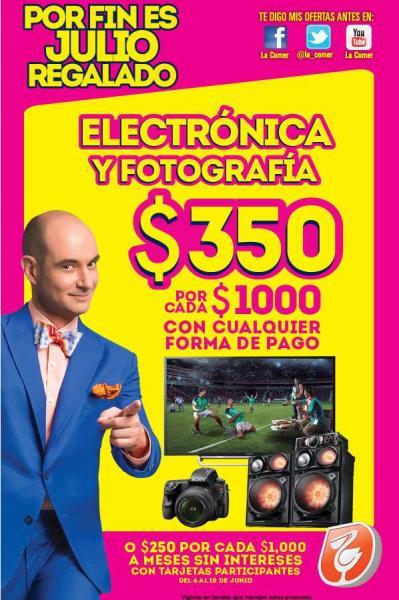 Julio Regalado en La Comer 2014: $350 de descuento por cada $1,000 en electrónica