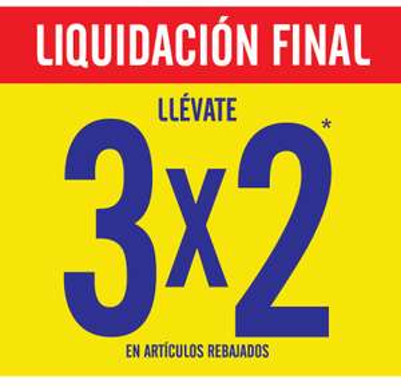C&A: Oferta del 3x2 en articulos en liquidacion