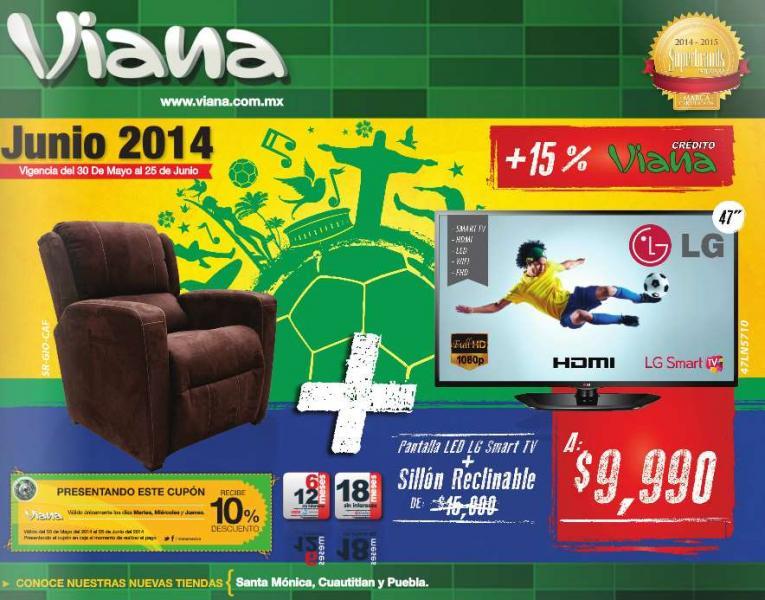 """Viana: LED Smart TV LG de 47"""" + sillón reclinable $9,990 + 10% de descuento"""