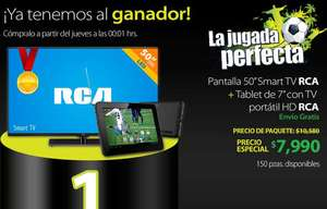 "Walmart: LED Smart TV 50"" + tablet de 7"" con TV $7,990"