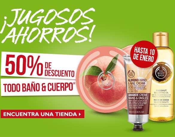 The Body Shop: 50% de descuento en todo baño y cuerpo