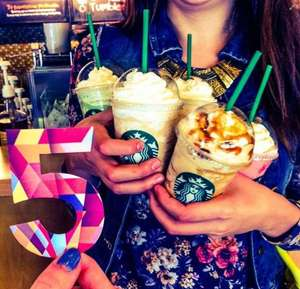 Starbucks Happy Hour: 2x1 en frappuccinos