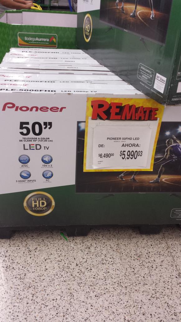 """Bodega Aurrerá: Pantalla LED Pioneer 50"""" $5,990.03"""