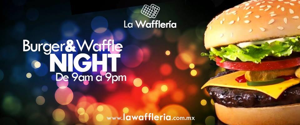 La waffleria: Hamburguesas a $30 pesos y waffles a $10 pesos