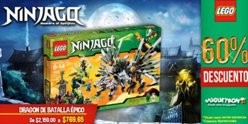 Juguetron: hasta 60% de descuento en sets LEGO seleccionados