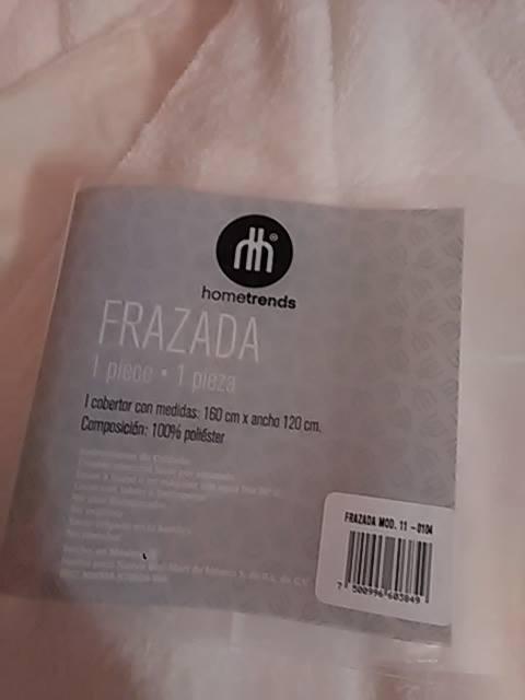 Walmart: Frazada polar $75 pesos (1.20 x 1.60 m)