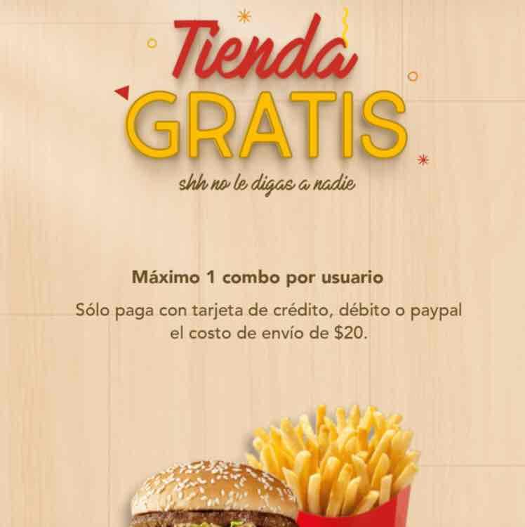 Rappi: Combos McDonald's gratis solo paga $20 de envío (más propina) Nuevamente disponibles!!