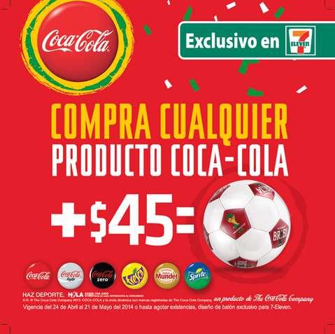 7 Eleven: camisa de la selección o balón comprando Coca Cola + pago