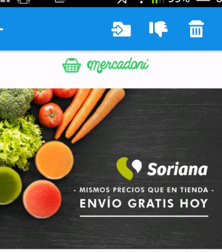 Mercadoni: envío gratis en productos de tienda Soriana