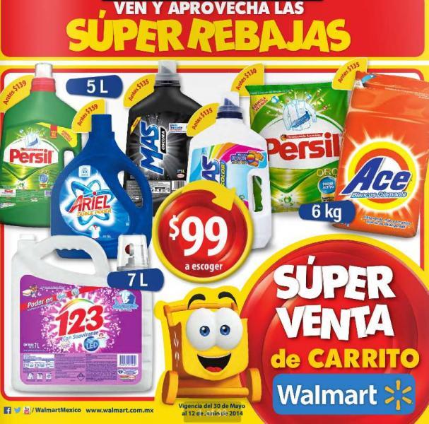 Folleto de ofertas Walmart del 30 de mayo al 12 de junio