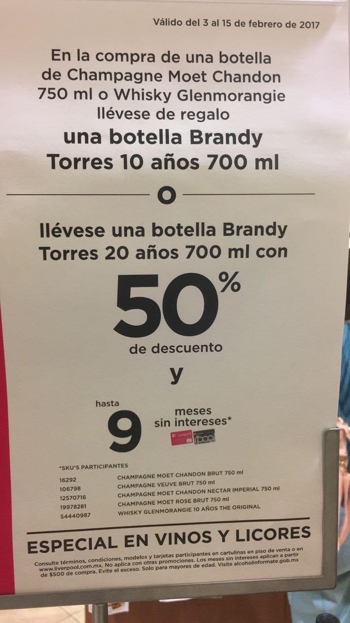 Liverpool: Torres 10 gratis en la compra de Moet o whisky