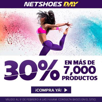 Netshoes day: 30% de descuento en selección + cupones de descuento