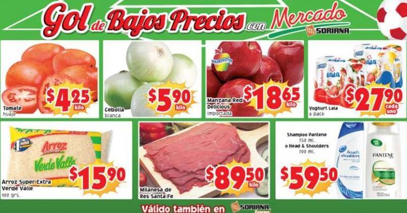 Ofertas de frutas y verduras en Soriana junio 3 y 4: tomate huaje $4.25 el kilo y más