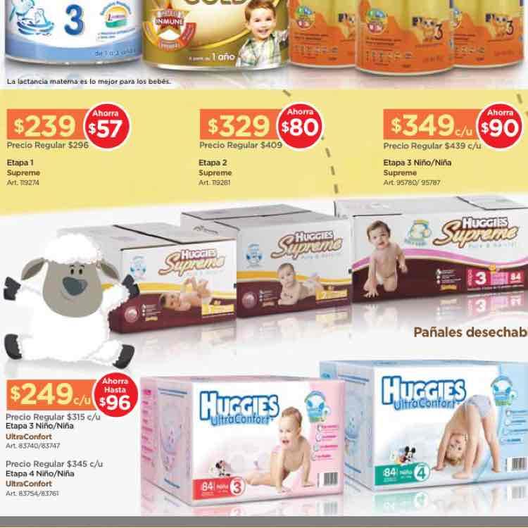 Sam's Club: promociones en bebes (ej. caja de 84 pañales etapa 4 huggies ultraconfort en $249)