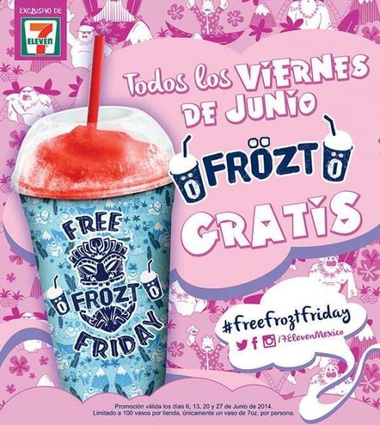 7 eleven: Frözt gratis todos los viernes de junio