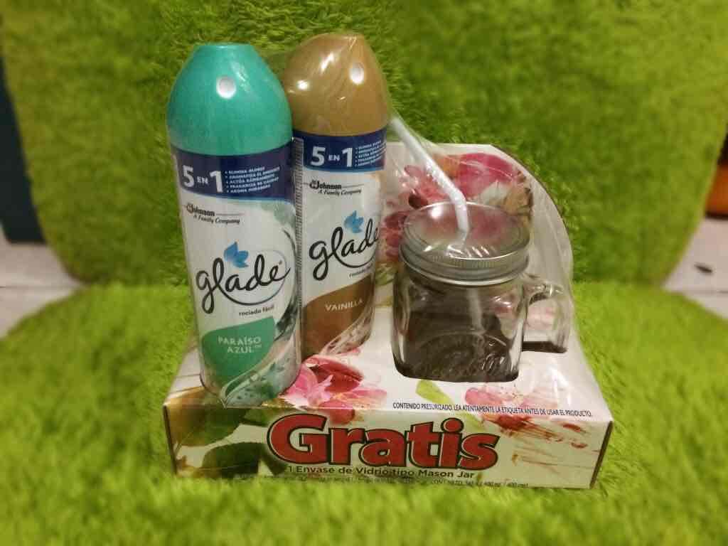 Chedraui: 2 aromatizantes en aerosol Glade 345g + Envase tipo Mason Jar...