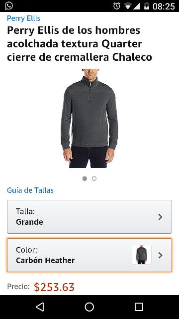 Amazon: Suéter Perry Ellis talla grande