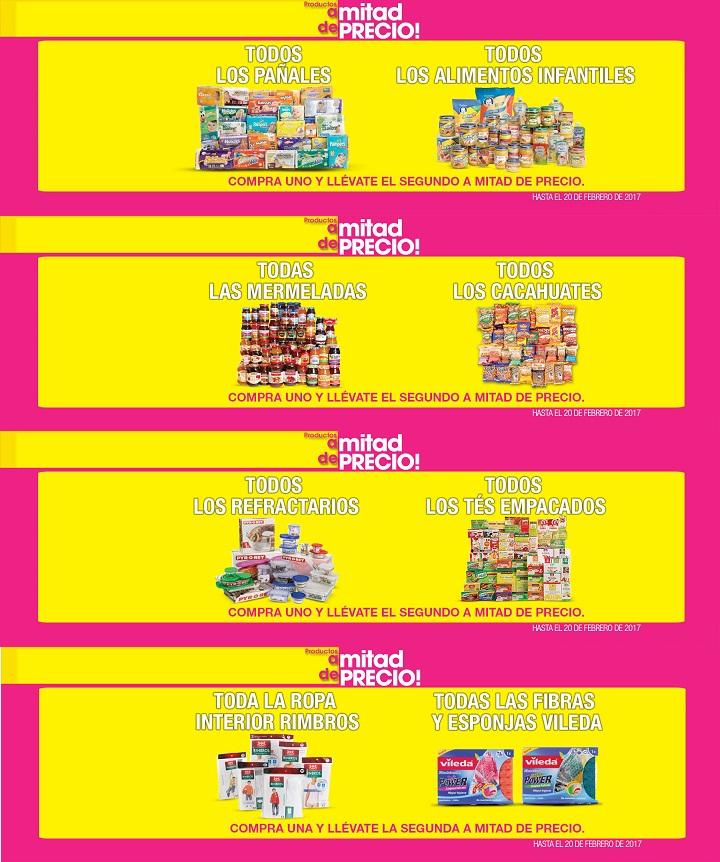 La Comer: 2 x 1½ en todos los pañales, alimentos infantiles, mermeladas, cacahuates, refractarios, tés empacados, ropa interior Rimbros, fibras y esponjas Vileda
