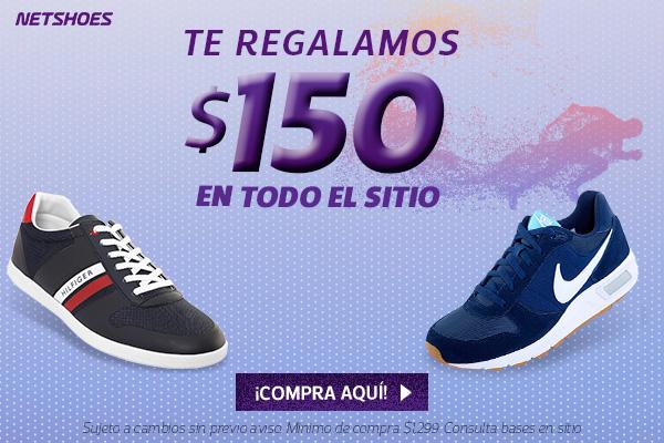 Netshoes: cupón de $150 en compras de $1,299