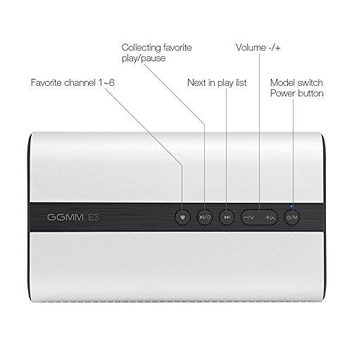 Amazon: Ggmm E3 reloj despertador inteligente vivir de control de aplicaciones inalambricas wi-fi amplificador de altavoz bluetooth + wifi