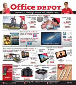 Folleto de ofertas en Office Depot de junio