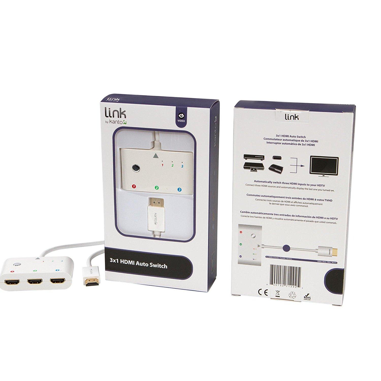 Amazon MX: Kanto PC201-1500W Auto Switcher, 3x HDMI