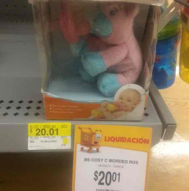 Walmart: chupón con peluche