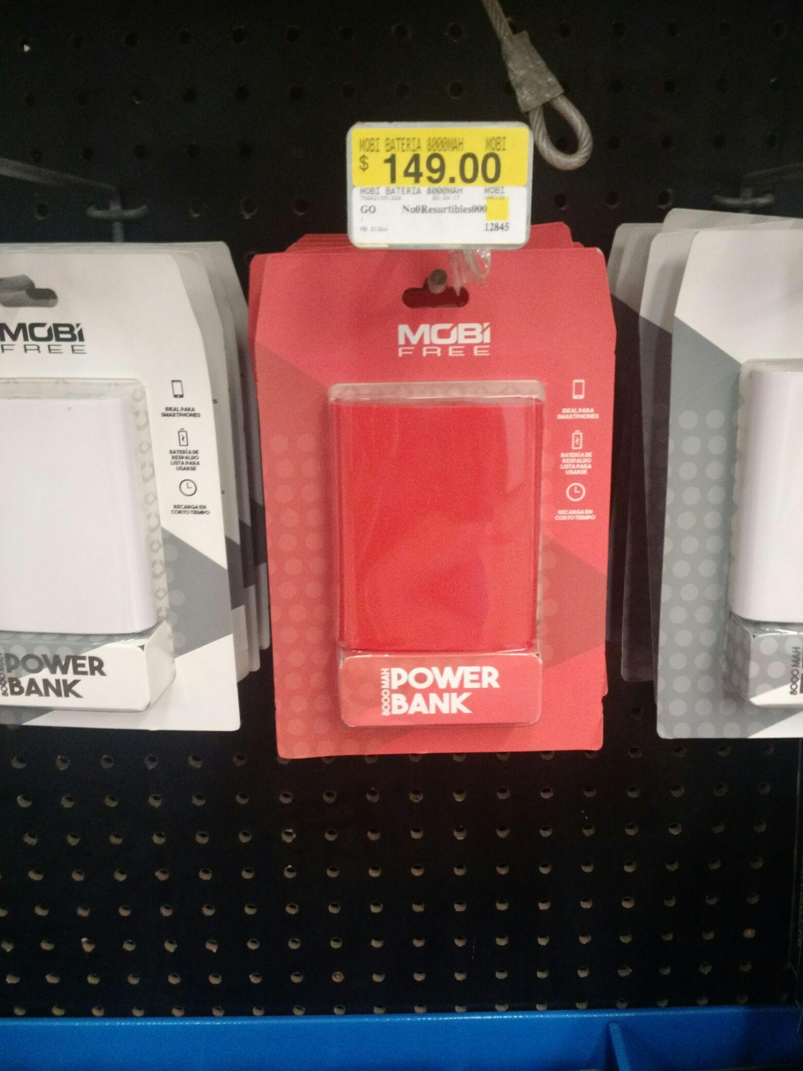Walmart: Power Bank 8000mAh - Mobi Free