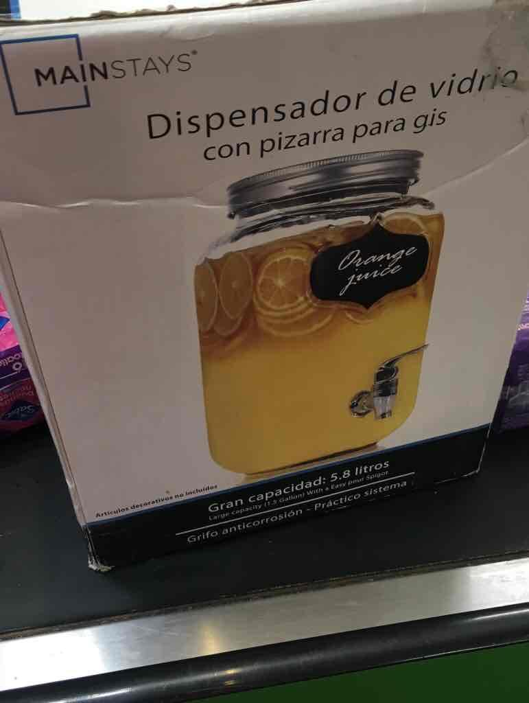 Bodega Aurrerá: Dispensador de vidrio 5.8 lts a 1 peso