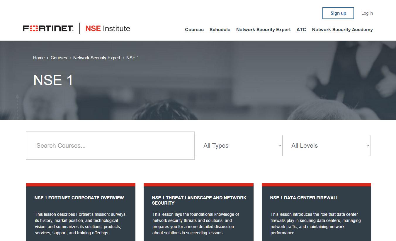 NSE Institute: Curso Gratis Fortinet