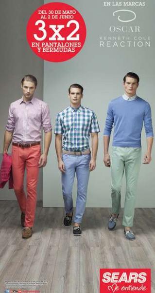 Sears: 3x2 en bermudas y pantalones seleccionados y 20% de descuento en Docker Men
