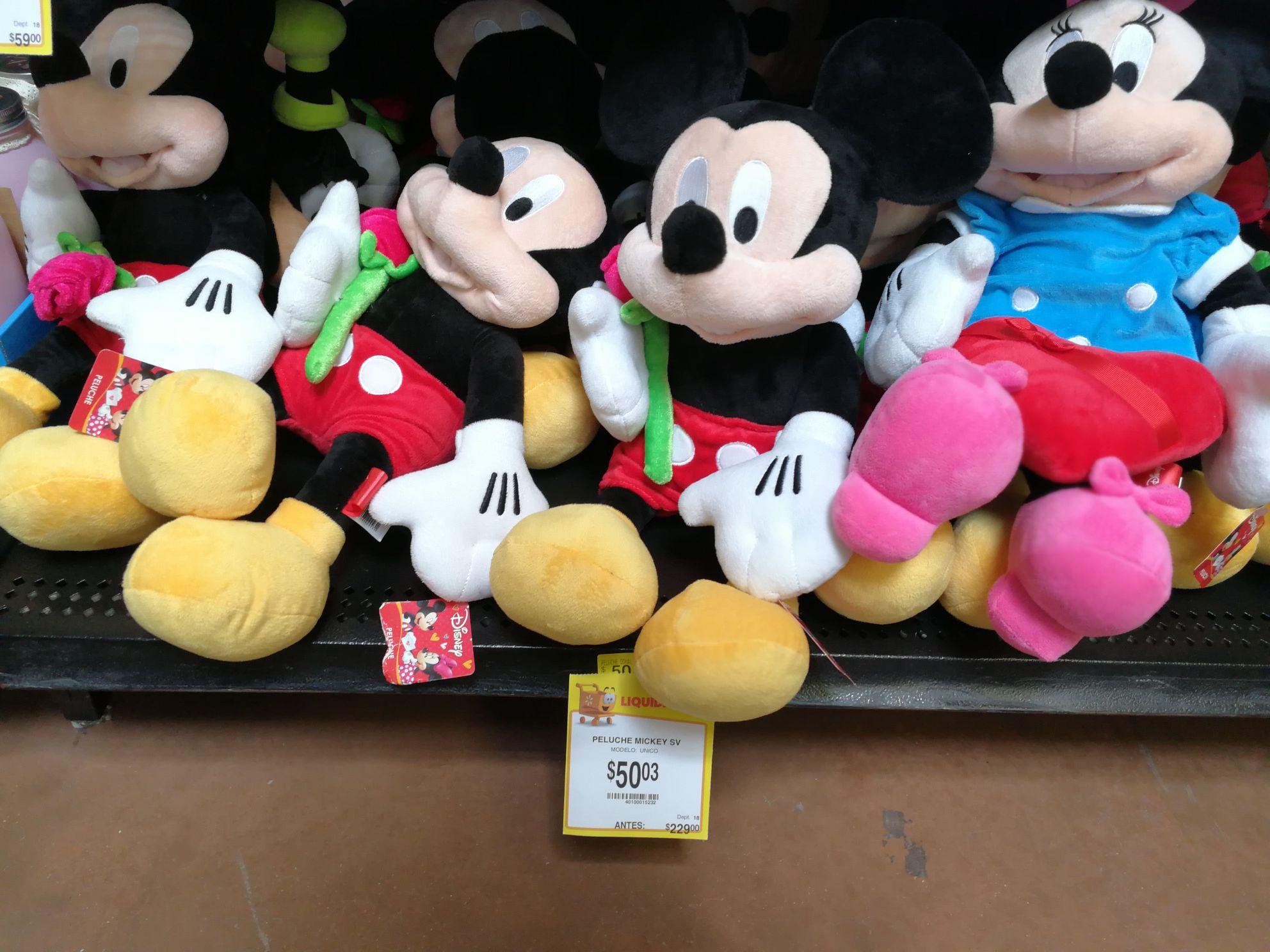 Walmart Cd Carmen: Peluches Disney Mickey y otros de Amor a $50.03