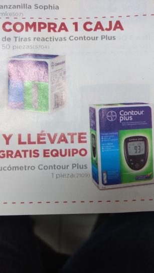 FARMACIAS DEL AHORRO: Glucómetro Contour Plus GRATIS al comprar tiras reactivas 50 piezas