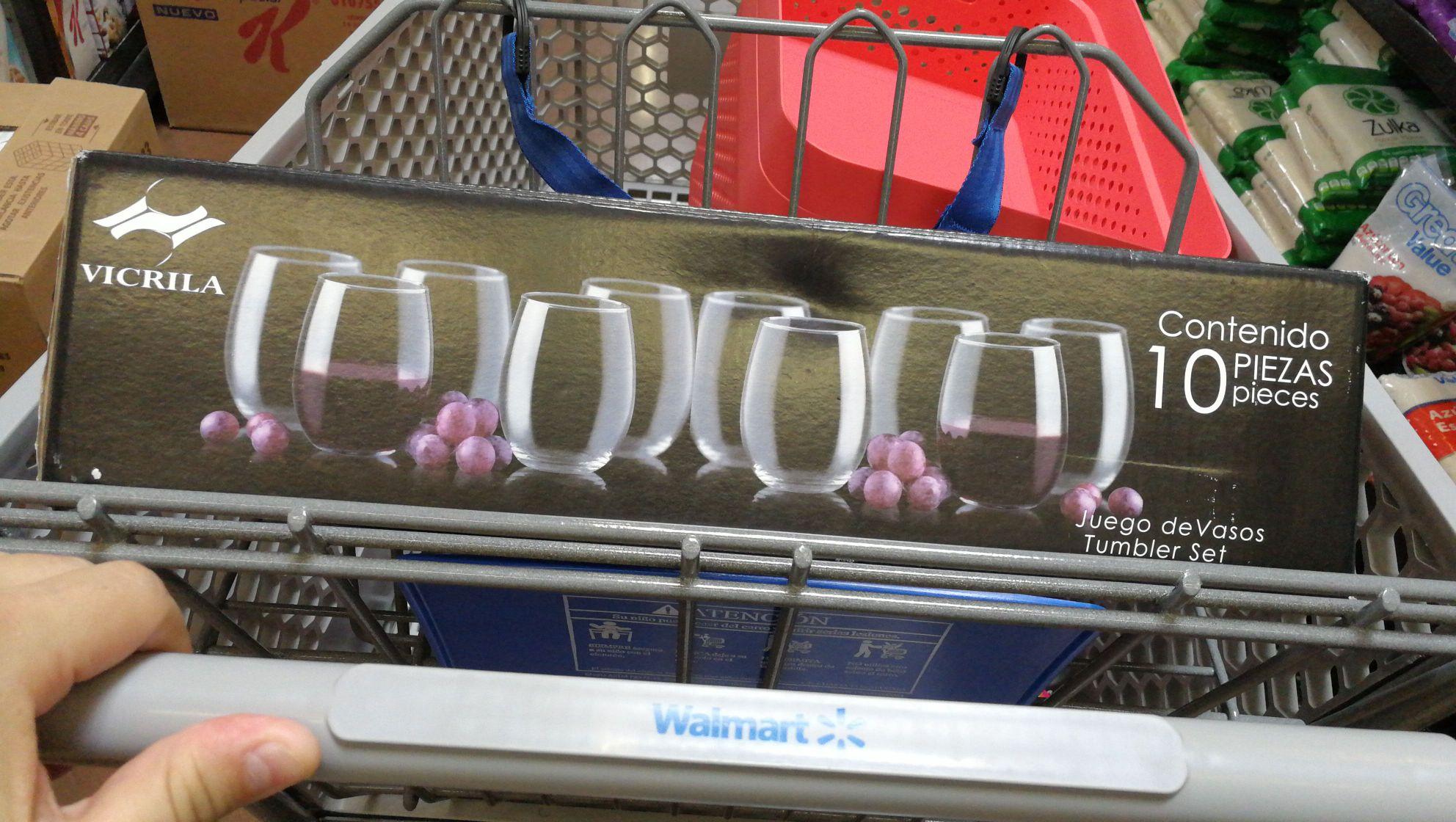 Walmart Cd Carmen: Set de 10 vasos a solo 45 pesitos