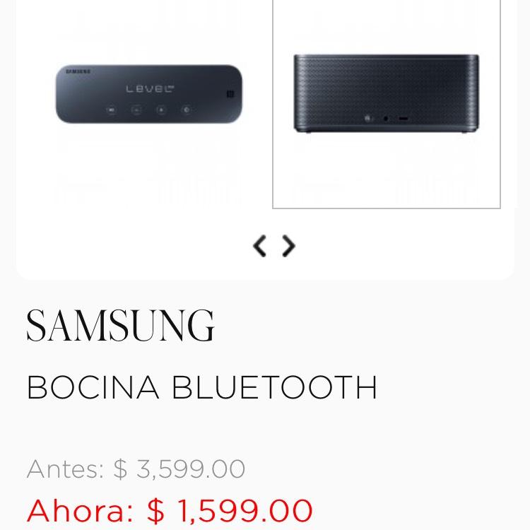 Palacio de Hierro: Bocina Bluetooth Samsung EO-SG900DBSGMX