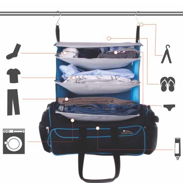 Mequedouno: CLOSMAGIC mochila de viaje $249