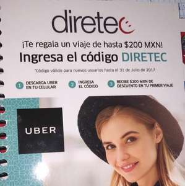 Uber: código de hasta $200 (SOLO NUEVOS USUARIOS)