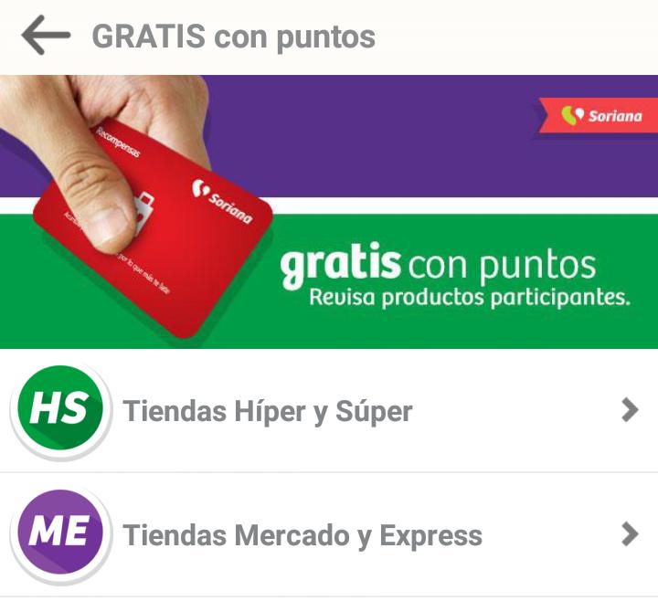 Soriana: Llevate productos gratis con tus puntos