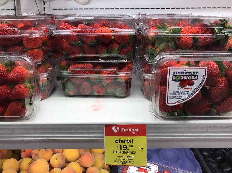 Soriana: Fresa de $56 el paquete hoy en $19.90