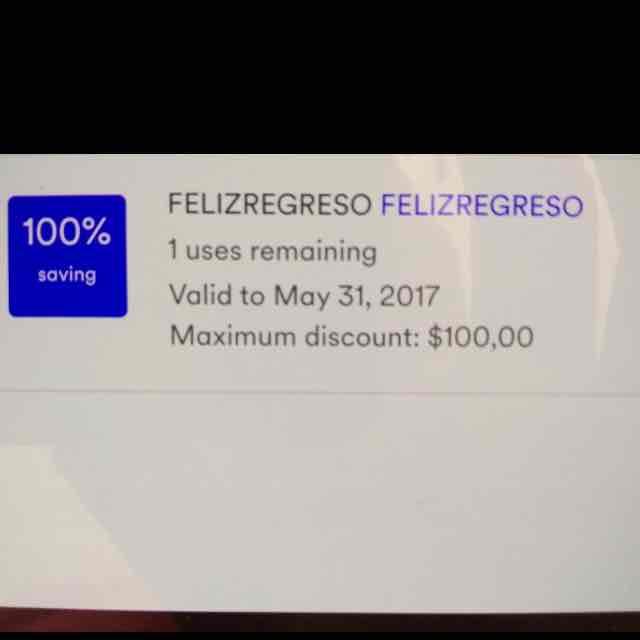 Cabify: Descuento de $100 para 1 viaje