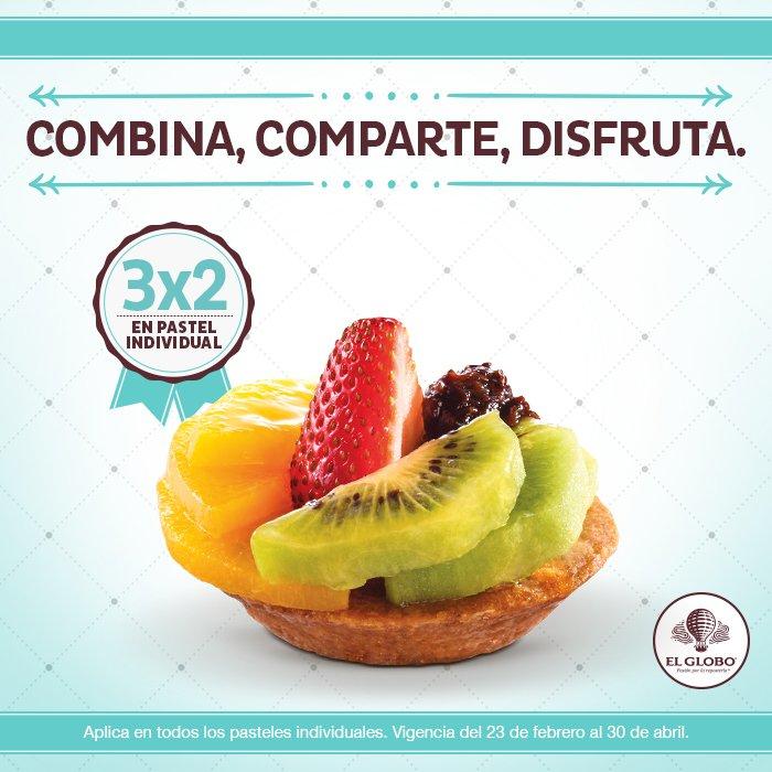 El Globo: 3x2 en Pasteles Individuales
