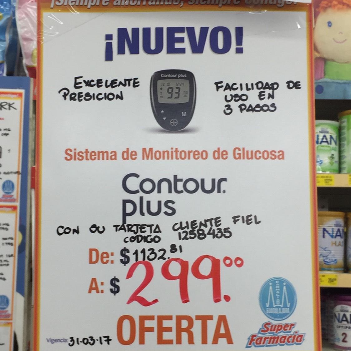 Farmacias Guadalajara: Contour plus medidor glucosa