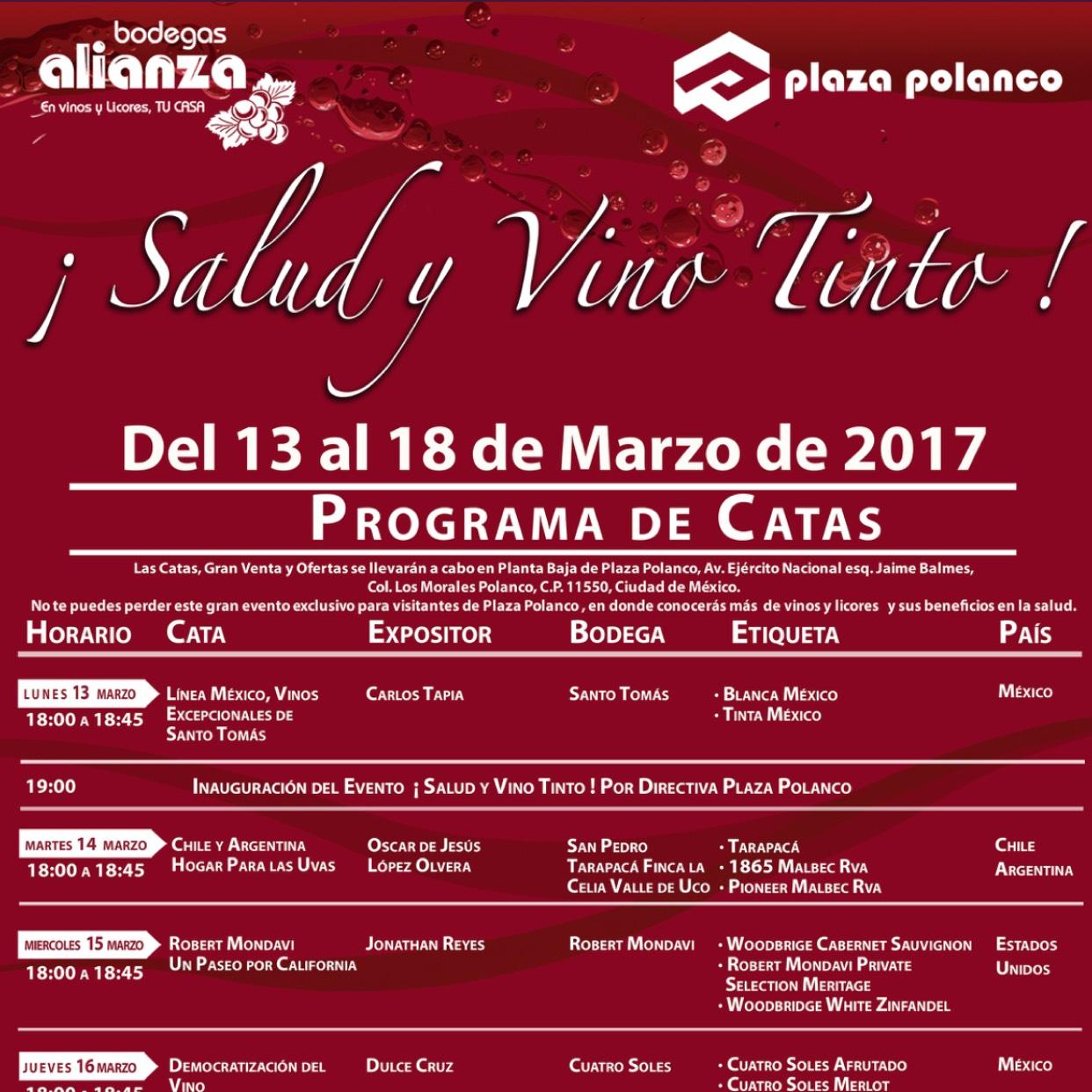 Bodegas Alianza: Cata de Vinos GRATIS del 13 al 18 de marzo