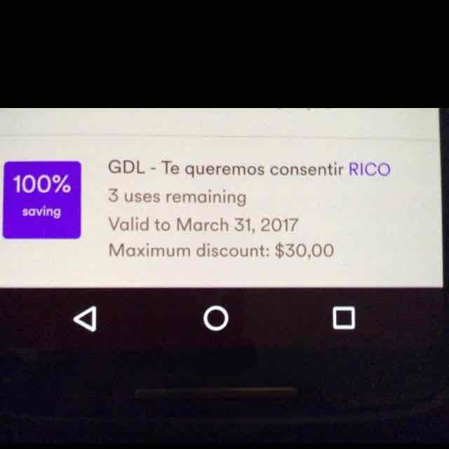 Cabify Guadalajara 3 descuentos de $30 (usuarios existentes)