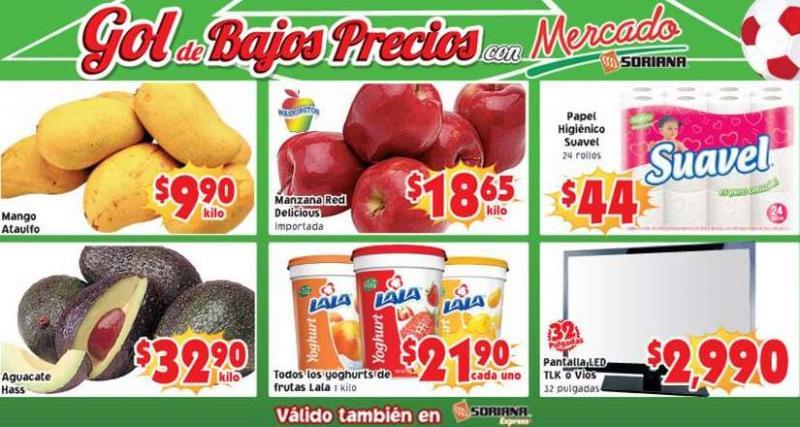 Ofertas de frutas y verduras en Soriana 27 y 28 de mayo