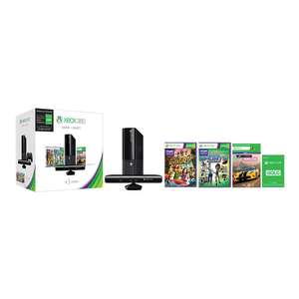 Walmart.com: Consola Xbox 360 500 GB más Sensor Kinect más 3 Juegos Físicos más Tarjeta Live 3 Meses Gold