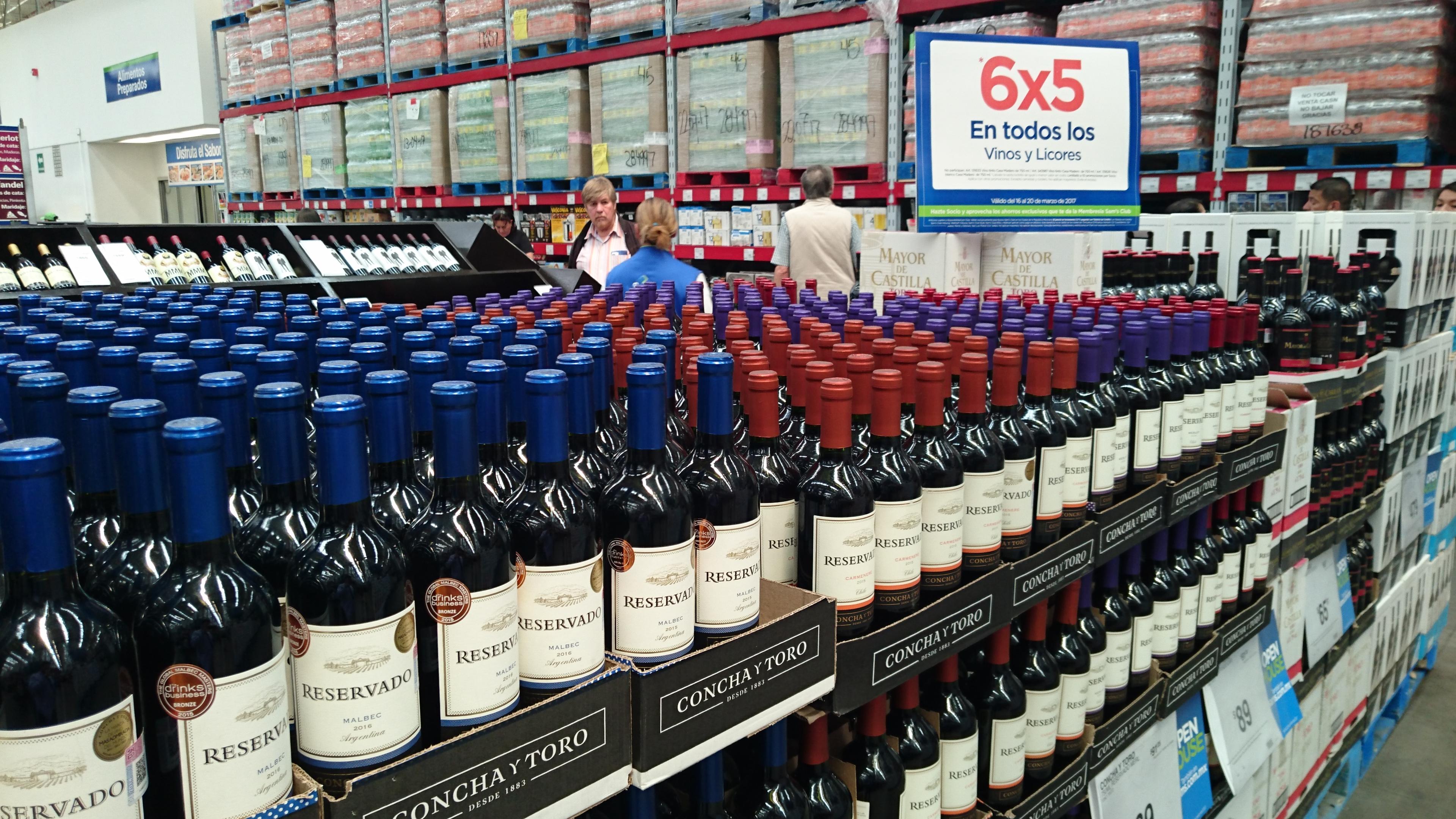Sam's Club: 6 x 5 en todos los vinos y licores