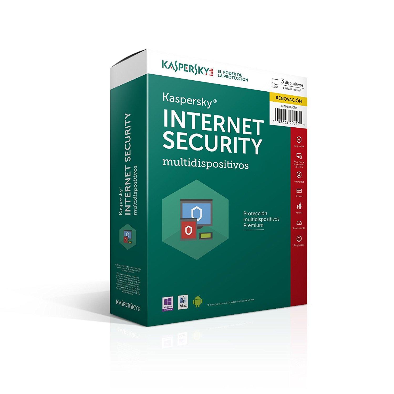 Amazon: Kaspersky Internet Security 2016 (Actualizable a 2017) 1 año,1 usuario, Envio gratis