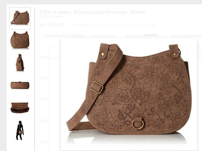 Amazon: bolsa cruzada color marron