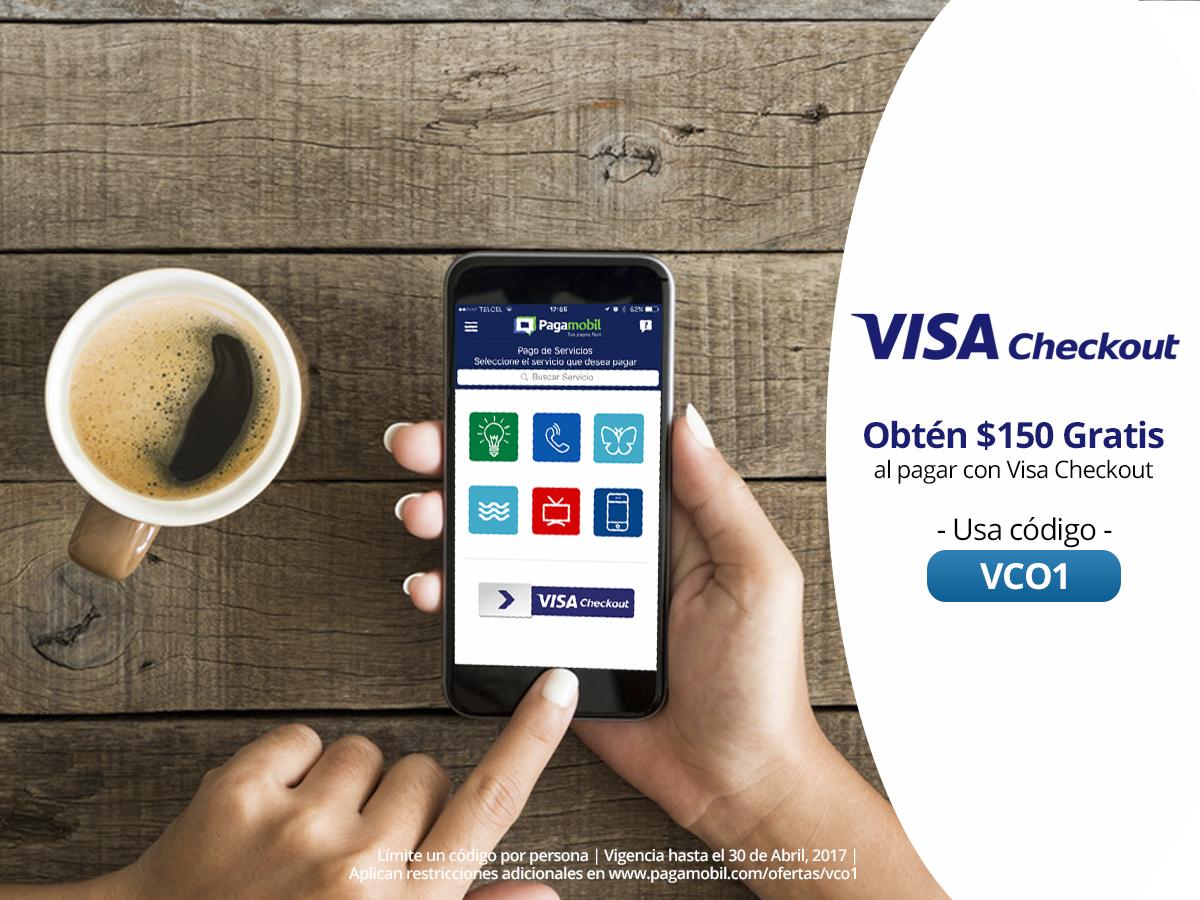Pagamobil: Recibe $150 de descuento al pagar tus servicios con Visa Checkout